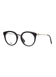 Fendi Full Rim Round Black Frame for Women, FN-0303-8075120, 51/20/140