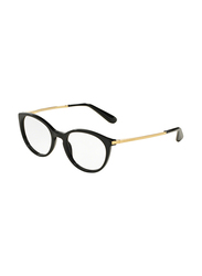 Dolce & Gabbana Full Rim Round Black Frame for Women, DG3242-501, 48/19/140