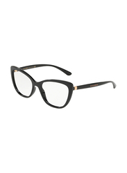 Dolce & Gabbana Full Rim Cat Eye Black Frame for Women, DG5039-501, 54/17/140