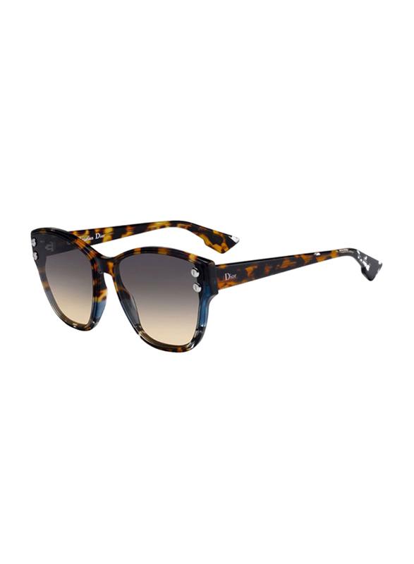 Dior Full Rim Cat Eye Blue Havana Sunglasses for Women, Grey Gradient Lens, CD-DRADDICT3-JBW6086, 60/17/145