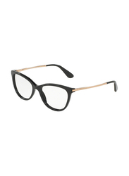 Dolce & Gabbana Full Rim Cat Eye Black Frame for Women, DG3258-501, 52/17/140