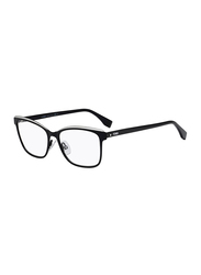 Fendi Full Rim Rectangle Black Frame for Women, FN-0277-8075416, 54/16/145