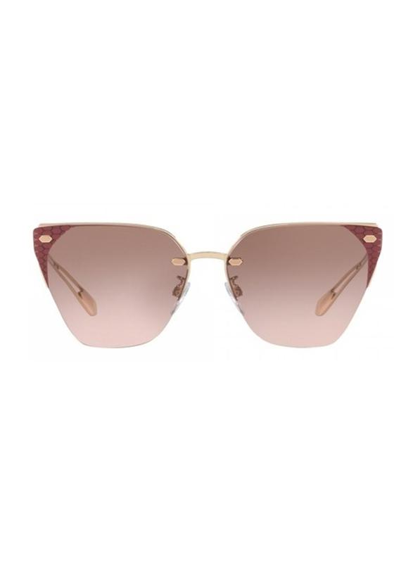 Bvlgari Full Rim Cat Eye Rose Gold Sunglasses for Women, Pink Gradient Lens, BV6116-201414, 63/15/140
