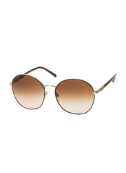 Burberry Full Rim Round Pale Gold Sunglasses for Women, Brown Gradient Lens, BU-3094-114513, 56/17/140
