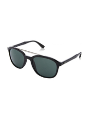 Ray-Ban Full Rim Square Black Sunglasses Unisex, Green Lens, RB4290-601/71, 53/21/145