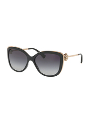 Bvlgari Full Rim Cat Eye Black Sunglasses for Women, Grey Gradient Lens, BV6094B-20148G, 57/17/135