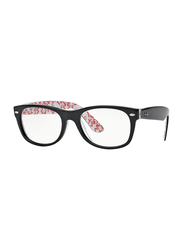 Ray-Ban Full Rim Rectangle Red Logo/Black Frame Unisex, RX5184-5014, 50/18/145