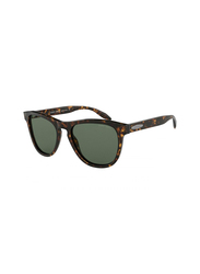 Giorgio Armani Full Rim Round Brown Sunglasses for Men, Grey Lens, GI-8116-502671, 55/19/145