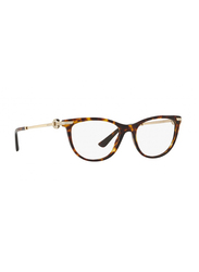 Bvlgari Full Rim Cat Eye Havana Frame for Women, BV4155B-504, 54/17/140