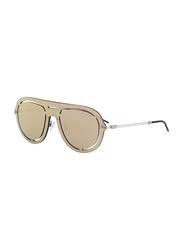 Emporio Armani Full Rim Pilot Silver Rose Sunglasses Unisex, Silver/Rose Gold Mirror Mirrored Lens, EM-2057-30154Z, 75/0/140
