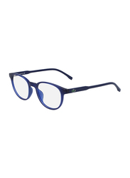 Lacoste Full-Rim Cat Eye Blue Computer Glasses for Kids, with Blue Light Filter, Clear Lens, 8-13 Years, LA-L3631-424-46-BC, 46/17/135