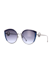 Fendi Full Rim Cat Eye Blue Sunglasses for Women, Blue Lens, FN-0290/S-PJP58GB, 58/21/140