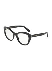 Dolce & Gabbana Full Rim Cat Eye Black Frame for Women, DG3284-501, 53/17/140