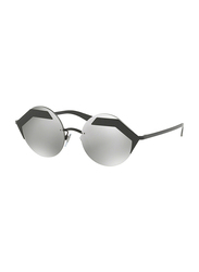 Bvlgari Rimless Serpenteye Black Sunglasses for Women, Grey Gradient Lens, BV6089-128/6G, 55/18/140