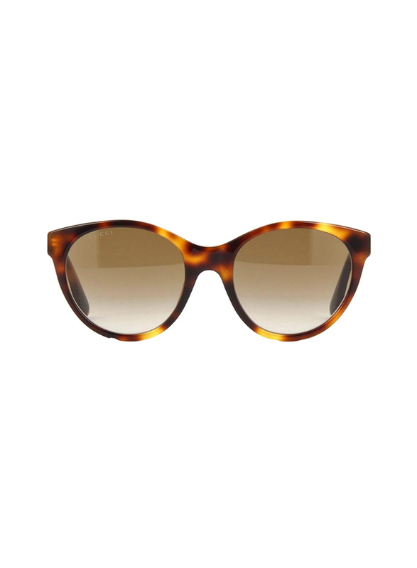 Gucci Full Rim Cat Eye Havana Sunglasses for Women, Brown Lens, GU-0419/S-003, 54/20/140