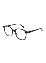 Fendi Full Rim Round Dark Havana Frame for Women, FN-0299-0865118, 51/18/140