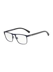 Emporio Armani Full Rim Square Blue Frame for Men, EM-1079-3092, 55/18/140