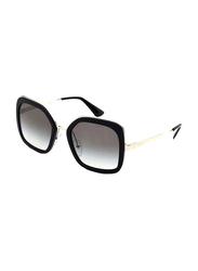 Prada Full Rim Butterfly Black Sunglasses for Women, Grey Lens, PA-57US-1AB0A7, 54/22/140