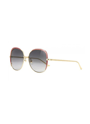 Gucci Full Rim Butterfly Blue/Pink Sunglasses for Women, Blue Gradient Lens, GU-0400/S-001, 58/18/140