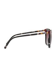 Burberry Full Rim Cat Eye Black/Tortoise White/Red Sunglasses for Women, Violet Gradient Lens, BU-4263-370990, 54/19/140