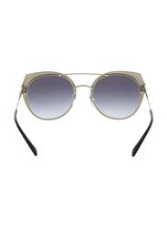 Bvlgari Full Rim Cat Eye Black/Gold Sunglasses for Women, Grey Gradient Lens, BV6095-20248G, 53/20/145