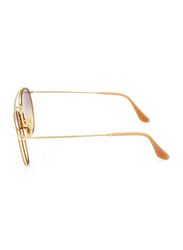Ray-Ban Full Rim Round Gold Sunglasses for Women, Copper Lens, RB3647N-001/7O, 51/22/145