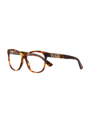 Gucci Full Rim Cat Eye Havana Frame for Women, GU-0421/O-002, 55/16/140