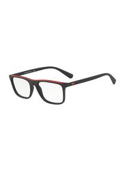 Emporio Armani Full Rim Square Black Frame for Men, EM-3124-5042, 53/17/145