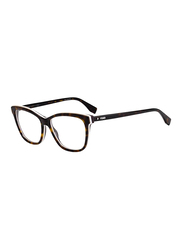 Fendi Full Rim Rectangle Havana Frame for Women, FN-0251-0865415, 54/15/140