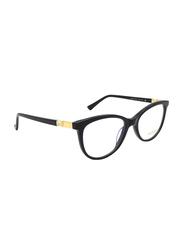 Noor Full Rim Cat Eye Black/Gold Frame for Women, NR-NO3102-C109