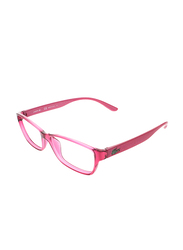 Lacoste Full-Rim Rectangle Pink Computer Glasses for Kids, with Blue Light Filter, Clear Lens, 8-13 Years, LA-L3803B-525-51-BC, 51/14/135