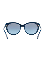 Vogue Full Rim Cat Eye Blue Sunglasses for Women, Blue Lens, VO2941S-22788F, 48/18/140