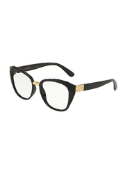 Dolce & Gabbana Full Rim Butterfly Black Frame for Women, DG5041-501, 51/17/140