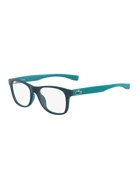Lacoste Full-Rim Square Green Computer Glasses for Kids, with Blue Light Filter, Clear Lens, 8-13 Years, LA-L3620-315-48-BC, 48/16/130