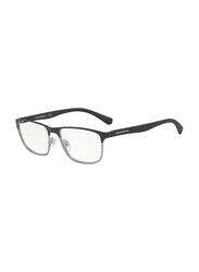 Emporio Armani Full Rim Square Black/Gunmetal Frame for Men, EM-1071-3194, 55/17/140