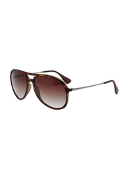 Ray-Ban Full Rim Aviator Tortoise Sunglasses Unisex, Brown Gradient Lens, RB4201-865/13, 59/15/145