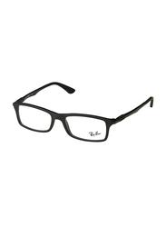 Ray-Ban Full Rim Rectangle Matte Black Frame for Men, RX7017-5196, 54/17/145