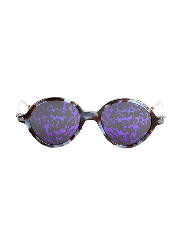 Dior Full Rim Round Azure Havana Sunglasses for Women, Grey/Violet Lens, CD-DRUMBRAGE-MJN52TY, 52/20/135