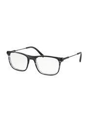 Bvlgari Full Rim Square Stripped Grey Frame Unisex, BV303735, 55/17/140