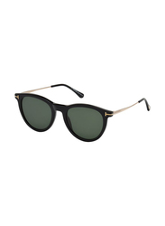 Tom Ford Full Rim Round Black Sunglasses Unisex, Grey Lens, FT-062601N53, 53/20/140