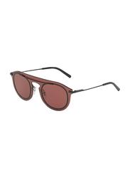 Dolce & Gabbana Full Rim Round Bordeaux Sunglasses for Men, Bordeaux Lens, DG2169-01/75, 48/16/145