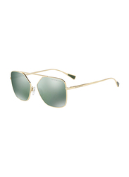 Emporio Armani Full Rim Square Gold Sunglasses for Men, Green Mirrored Lens, EM-2053-30136R, 56/16/140