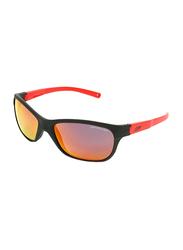 Julbo Player L Full-Rim Rectangle Black Sunglasses for Kids, with Blue Light Filter, Mirrored Red Lens, 6-10 Years, JBF-PLAYERLJ4631122, 49/17/112