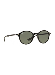 Ray-Ban Polarized Full Rim Round Matte Black Sunglasses Unisex, Black Lens, RB4237-601S58, 50/21/145