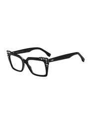 Fendi Full Rim Square Black Frame for Women, FN-0262-8075117, 51/17/145