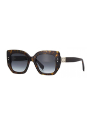 Fendi Full Rim Square Tortoise Sunglasses for Women, Grey Gradient Lens, FN-0267/S-086519O, 51/20/140