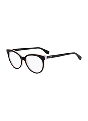 Fendi Full Rim Round Black Frame for Women, FN-0254-8075317, 53/17/140