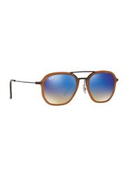 Ray-Ban Full Rim Aviator Brown Sunglasses Unisex, Blue Lens, RB4273-62588B, 52/21/145