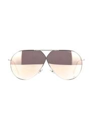 Dior Full Rim Aviator Silver Sunglasses for Women, Golden Mirrored Lens, CD-DRSTLLRE3-01065SQ, 65/1/145