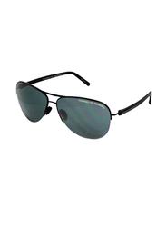 Porsche Design Full Rim Aviator Matt Black Sunglasses for Men, Black Lens, PD-8569A, 61/13/130